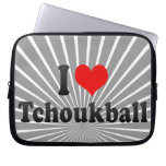 I love Tchoukball Laptop Sleeves
