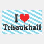 I love Tchoukball Rectangular Stickers
