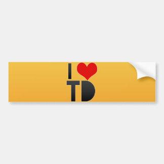 I Love TD Bumper Sticker