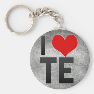 I Love TE Keychain