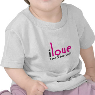 I love tea and biscuits design 10 in Pink Tee Shirts