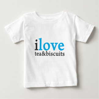 I love tea and biscuits design 11 in light blue baby T-Shirt