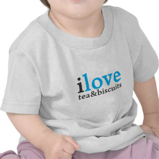 I love tea and biscuits design 11 in light blue t shirts