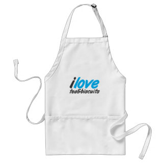 I love tea and biscuits design 12 in light blue adult apron