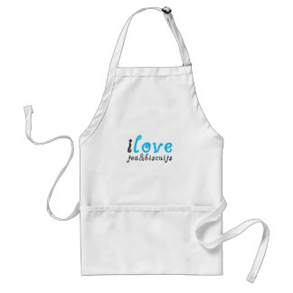 I love tea and biscuits design 3 in light blue adult apron