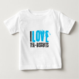 I love tea and biscuits design 4a in light blue baby T-Shirt