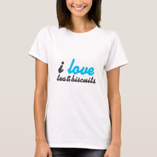 I love tea and biscuits design 6 in light blue T-Shirt