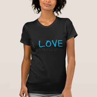 I love tea and biscuits design 7 in light blue T-Shirt