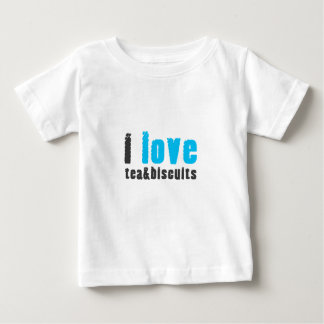 I love tea and biscuits design 8 in light blue baby T-Shirt