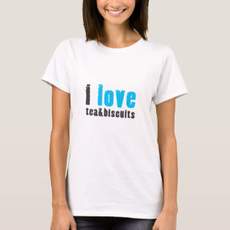I love tea and biscuits design 8 in light blue T-Shirt