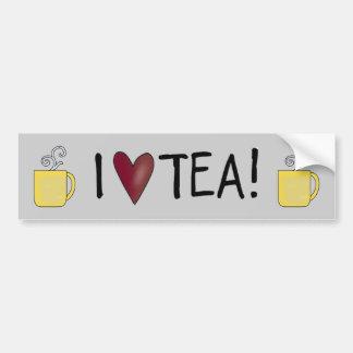I Love Tea Car Bumper Sticker