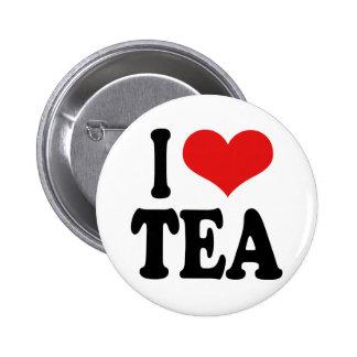 I Love Tea Pinback Buttons