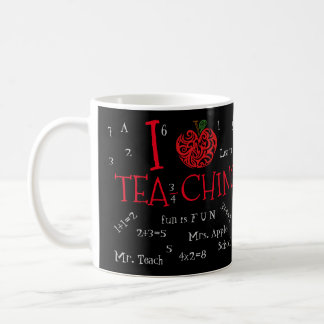 I Love Tea-ching Customizable Chalkboard Edition Coffee Mug