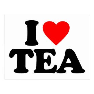 I LOVE TEA POSTCARD