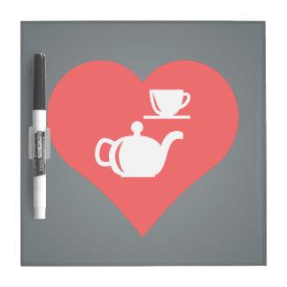 I Love Tea Sets Cool Icon Dry-Erase Whiteboard