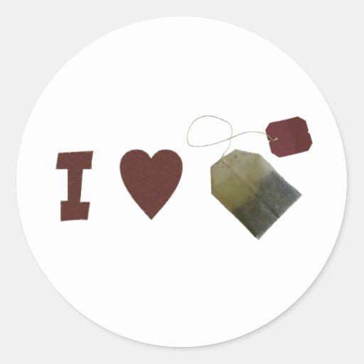 I love Tea Stickers