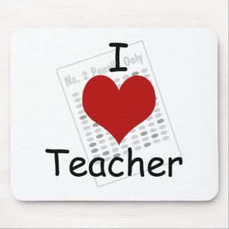 i love teacher mouse pad