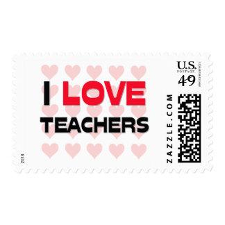 I LOVE TEACHERS POSTAGE STAMP