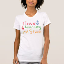 I Love Teaching 2nd Grade Gift T-Shirt