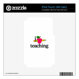 I Love Teaching/Apple & Pencil iPod Touch 4G Decal