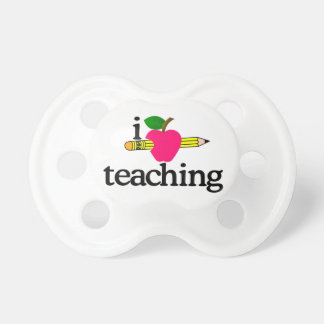 I Love Teaching/Apple & Pencil Pacifier
