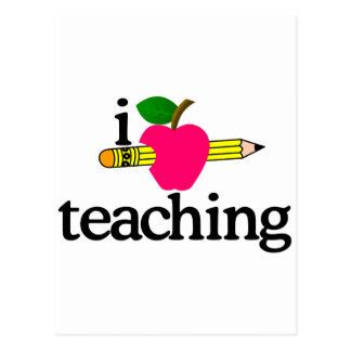 I Love Teaching/Apple & Pencil Postcard