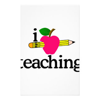 I Love Teaching/Apple & Pencil Stationery