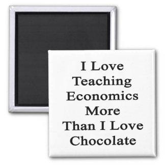 I Love Teaching Economics More Than I Love Chocola Refrigerator Magnets