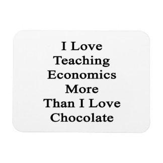 I Love Teaching Economics More Than I Love Chocola Rectangular Magnet
