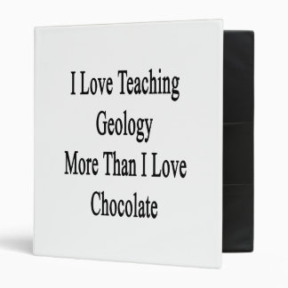 I Love Teaching Geology More Than I Love Chocolate Vinyl Binder