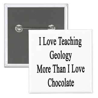 I Love Teaching Geology More Than I Love Chocolate 2 Inch Square Button