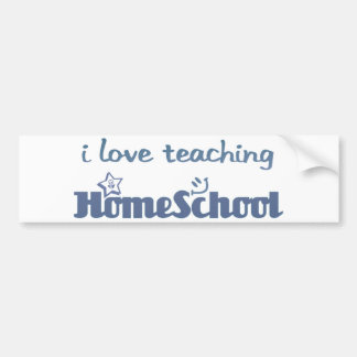 i Love teaching homeschool Bumper Sticker