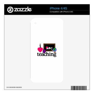 I Love Teaching iPhone 4 Decals