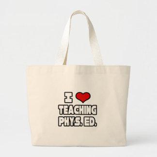 I Love Teaching PE Large Tote Bag