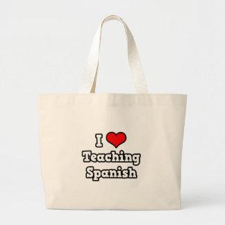 I Love Teaching Spanish Large Tote Bag