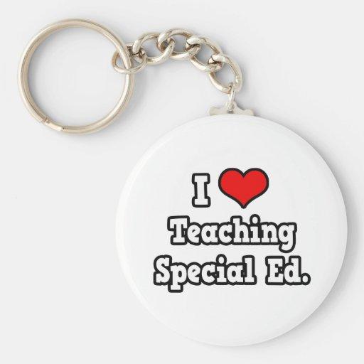 I Love Teaching Special Ed Keychain