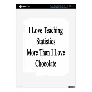 I Love Teaching Statistics More Than I Love Chocol Decal For iPad 3