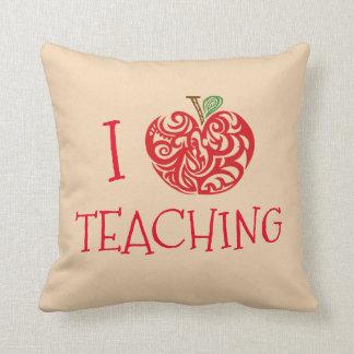 I Love Teaching Throw Pillow