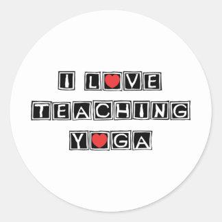 I Love Teaching Yoga Classic Round Sticker