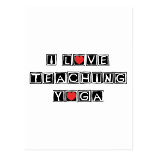 I Love Teaching Yoga Postcard