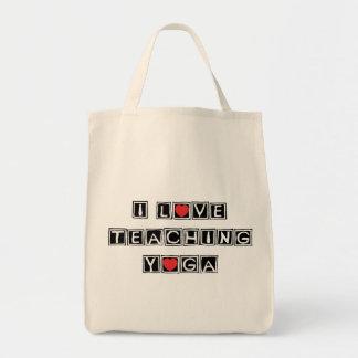 I Love Teaching Yoga Tote Bag