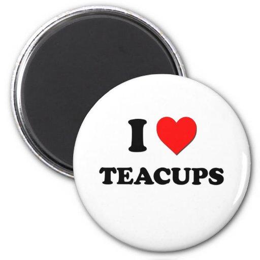 I love Teacups Refrigerator Magnet