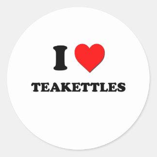 I love Teakettles Classic Round Sticker