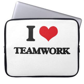 I love Teamwork Laptop Computer Sleeve