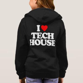 I LOVE TECH HOUSE HOODIE