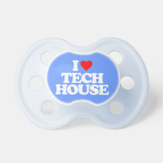 I LOVE TECH HOUSE PACIFIER
