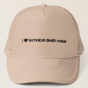 99116db441c I love technical death metal trucker hat