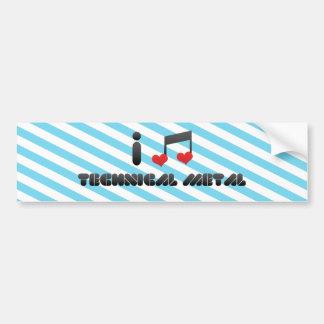 I Love Technical Metal Bumper Stickers