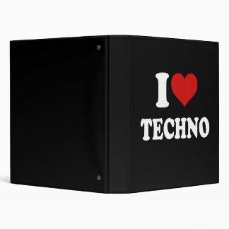 I Love Techno 3 Ring Binder