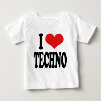 I Love Techno Baby T-Shirt